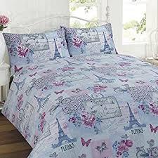new paris romance duvet cover u0026 pillowcase set bedding digital