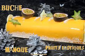 cuisine de noel facile buche de noel mousse mangue fruits exotiques gateau cake