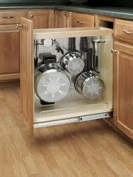 kitchen cabinet storage solutions diy pot and pan pullout great idea to make pots pans reachable dapur diy