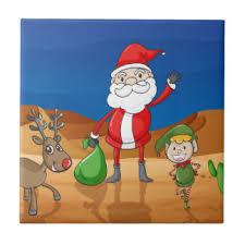 santa claus reindeer tiles small santa claus reindeer ceramic