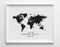 World Map Posters by Printable World Map Art Print