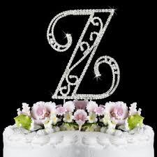 z cake toppers z wf monogram wedding cake toppers