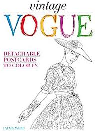 amazon vogue coloring book 9781840917260 british vogue