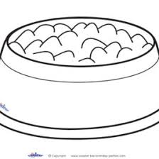 dog bowl coloring kids drawing coloring pages marisa