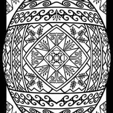 pysanky egg coloring page ukrainian easter egg coloring pages http wwwpapereggs pysanky eggs