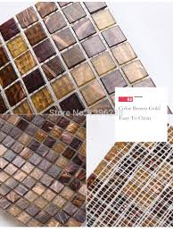 aliexpress com buy brown glass gold line pattern mosaic tiles