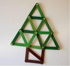 geometric popsicle stick tree ornament craft stick