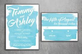 light blue wedding invitations watercolor wedding invitations set printed baby blue watercolor