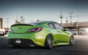hyundai genesis stance hyundai genesis stance tuning green hyundai coupe genesis green hd