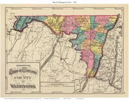 County Map Of Washington by 1873 Atlas Of Maryland County Maps