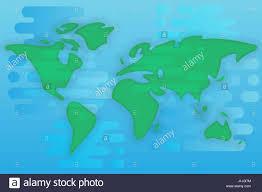 Vector World Map World Map Cartoon Flat Illustration Stock Vector Art