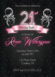 21st invitation templates free printable 21st birthday
