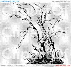 clipart retro vintage black and white bare tree 2 royalty free