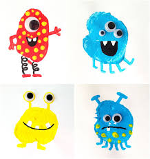 potato printing monsters for everyday fun monsters craft and spaces
