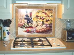 Kitchen Murals Backsplash by Kitchen Tiles Of Wine Backsplash Ideas Sunflowers Tile Mural
