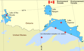 canadian map with great lakes lake of the woods lake superior environment canada