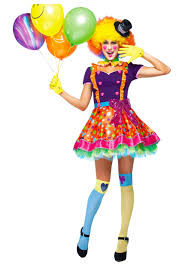 Scary Clown Halloween Costumes Adults Womens Party Clown Costume