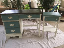 Chalk Paint Desk by Coastal Chalk Paint Desk And Printer Table Did That