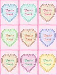 valentines day sayings for hearts printable