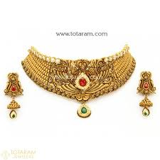 gold jewellery necklace sets images 22k gold antique necklace sets indian gold jewelry from totaram jpg