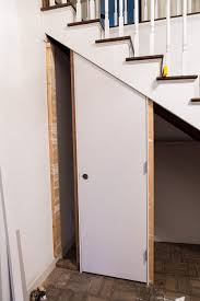 a closet how to add a closet with a hidden door under a staircase in my