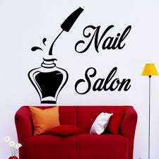 compare prices on beauty salon designs online shopping buy low wall decals bottle nail salon decal beauty studio decor stickers art design china mainland