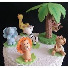 safari birthday decorations baby jungle animals cake toppers