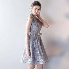 robe grise pour mariage robe grise pour mariage cortège courte en dentelle col v