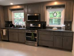 gray stained kitchen cabinets before and after gallery cardinal wood cabinet fronts