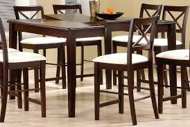 bar height glass table contemporary ideas bar height dining tables cappuccino finish