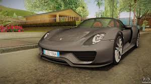 porsche 918 exterior porsche 918 spyder 2013 weissach package eu for gta san andreas