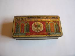 Vintage Ottoman by Antique Ottoman Regie 100 Cigarettes Tin Box By Retrodecoshop On