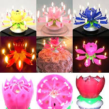 birthday candle flower flower birthday candles online shop rotating candle musical