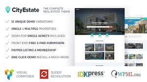 Free Wordpress Real Estate Templates by Cityestate Complete Real Estate Wordpress Theme Themeforest