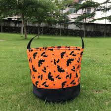 wholesale blanks multi chevron halloween bucket skull pumpkin bat