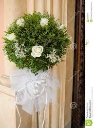 beautiful flower wedding decoration church stock photo image