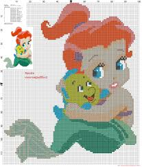 baby ariel with flanders cross stitch pattern 2186x2564 2853967