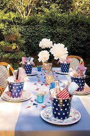 patriotic table setting decorations an all american