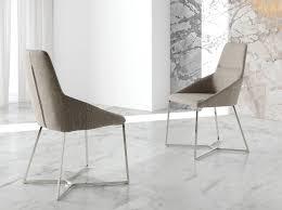 siege capitonné chaise avec pieds en acier inoxydable et siège capitonné en tissu