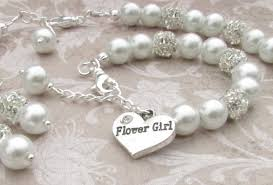 flower girl necklace images Flower girl jewelry set bridal pearls junior bridesmaid jpg
