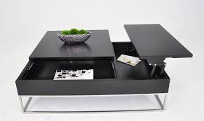 modern end table with drawer modern coffee table w pull out tray and storage