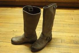 womens slouch boots size 9 s frye gray distressed leather shoes slouch boots