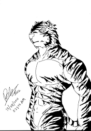 testing draw a tiger by darkdragon563 on deviantart