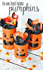 tin can pumpkins craft tutorial an easy halloween idea