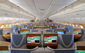 Emirates Airbus A380 Interior Business Class Inside The Airbus A380 The Biggest Passenger Plane In The World