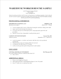 warehouse worker resume general warehouse worker resume 100 associate objective resume