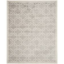 12 By 16 Area Rugs Shop Safavieh Amherst Moroccan Gray Ivory Indoor Outdoor Moroccan