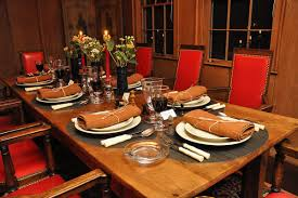 How To Set A Casual Table by Dining Room Extraordinary Decorations Using Rectangular Brown