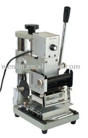Card Making Equipment - wenlin 90 1 pvc card heat press stamping tipping signature
