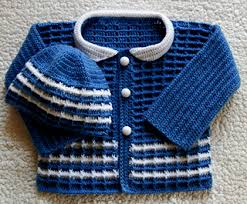 baby boy sweater ravelry baby boy crochet sweater and hat set pattern by sanko